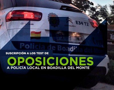 Test Policia Local de Boadilla