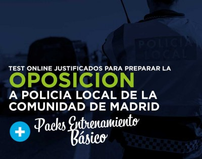 Pack Test justificado Policia Local de la Comunidad de Madrid + Entrenamiento TME Básico